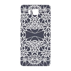 Blue White Lace Flower Floral Star Samsung Galaxy Alpha Hardshell Back Case by Mariart