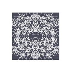 Blue White Lace Flower Floral Star Satin Bandana Scarf by Mariart