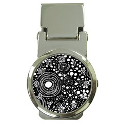 Circle Polka Dots Black White Money Clip Watches by Mariart