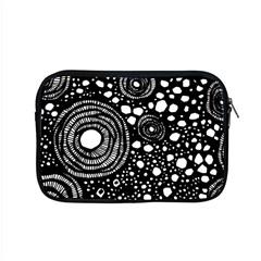 Circle Polka Dots Black White Apple Macbook Pro 15  Zipper Case by Mariart