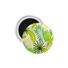 Amazon Forest Natural Green Yellow Leaf 1 75  Magnets by Mariart