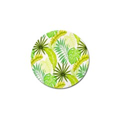 Amazon Forest Natural Green Yellow Leaf Golf Ball Marker (10 Pack) by Mariart