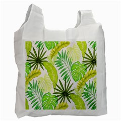 Amazon Forest Natural Green Yellow Leaf Recycle Bag (one Side) by Mariart