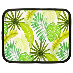 Amazon Forest Natural Green Yellow Leaf Netbook Case (xxl)  by Mariart