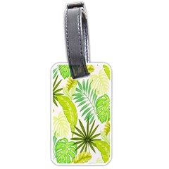 Amazon Forest Natural Green Yellow Leaf Luggage Tags (one Side)  by Mariart