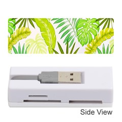 Amazon Forest Natural Green Yellow Leaf Memory Card Reader (stick)  by Mariart