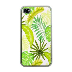Amazon Forest Natural Green Yellow Leaf Apple Iphone 4 Case (clear) by Mariart