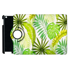 Amazon Forest Natural Green Yellow Leaf Apple Ipad 2 Flip 360 Case by Mariart