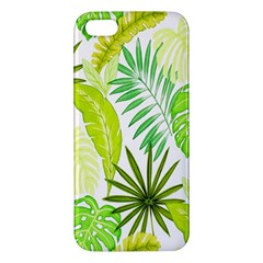 Amazon Forest Natural Green Yellow Leaf Iphone 5s/ Se Premium Hardshell Case by Mariart