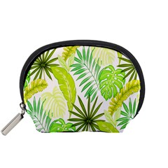 Amazon Forest Natural Green Yellow Leaf Accessory Pouches (small)  by Mariart