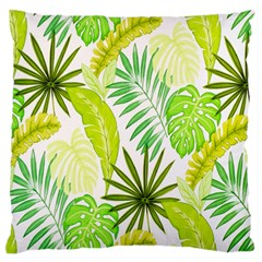 Amazon Forest Natural Green Yellow Leaf Standard Flano Cushion Case (one Side) by Mariart