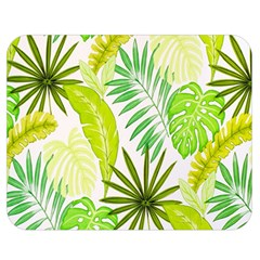 Amazon Forest Natural Green Yellow Leaf Double Sided Flano Blanket (medium)  by Mariart