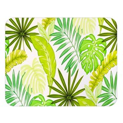 Amazon Forest Natural Green Yellow Leaf Double Sided Flano Blanket (large)  by Mariart