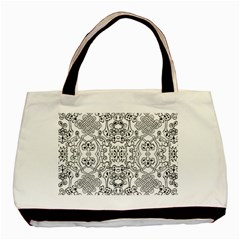 Black Psychedelic Pattern Basic Tote Bag (two Sides) by Mariart