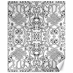 Black Psychedelic Pattern Canvas 11  X 14   by Mariart