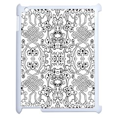 Black Psychedelic Pattern Apple Ipad 2 Case (white) by Mariart