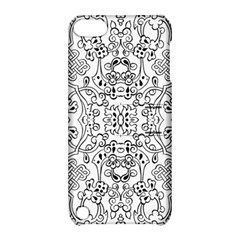 Black Psychedelic Pattern Apple Ipod Touch 5 Hardshell Case With Stand by Mariart
