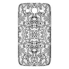 Black Psychedelic Pattern Samsung Galaxy Mega 5 8 I9152 Hardshell Case  by Mariart
