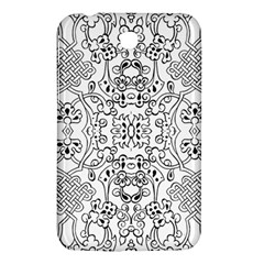 Black Psychedelic Pattern Samsung Galaxy Tab 3 (7 ) P3200 Hardshell Case  by Mariart