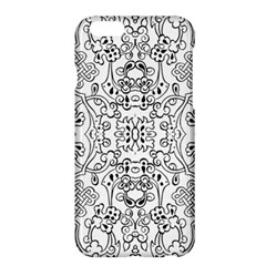 Black Psychedelic Pattern Apple Iphone 6 Plus/6s Plus Hardshell Case by Mariart