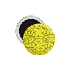 Yellow Flower Floral Circle Sexy 1 75  Magnets by Mariart