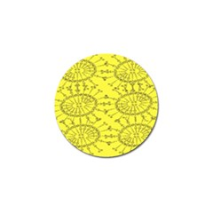 Yellow Flower Floral Circle Sexy Golf Ball Marker by Mariart