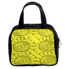 Yellow Flower Floral Circle Sexy Classic Handbags (2 Sides) by Mariart