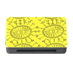 Yellow Flower Floral Circle Sexy Memory Card Reader With Cf by Mariart
