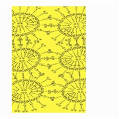 Yellow Flower Floral Circle Sexy Small Garden Flag (two Sides) by Mariart