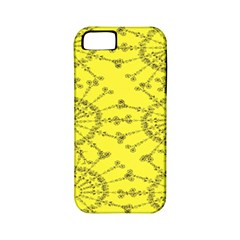 Yellow Flower Floral Circle Sexy Apple Iphone 5 Classic Hardshell Case (pc+silicone) by Mariart