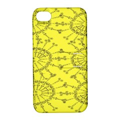 Yellow Flower Floral Circle Sexy Apple Iphone 4/4s Hardshell Case With Stand by Mariart