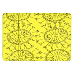 Yellow Flower Floral Circle Sexy Samsung Galaxy Tab 8 9  P7300 Flip Case by Mariart