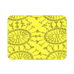 Yellow Flower Floral Circle Sexy Double Sided Flano Blanket (mini)  by Mariart