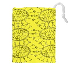 Yellow Flower Floral Circle Sexy Drawstring Pouches (xxl) by Mariart