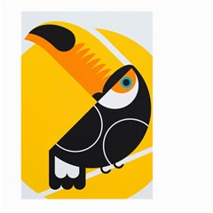 Cute Toucan Bird Cartoon Yellow Black Large Garden Flag (two Sides) by Mariart