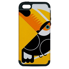 Cute Toucan Bird Cartoon Yellow Black Apple Iphone 5 Hardshell Case (pc+silicone) by Mariart