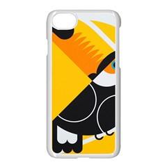 Cute Toucan Bird Cartoon Yellow Black Apple Iphone 7 Seamless Case (white) by Mariart