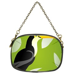 Cute Toucan Bird Cartoon Fly Yellow Green Black Animals Chain Purses (one Side)  by Mariart