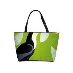 Cute Toucan Bird Cartoon Fly Yellow Green Black Animals Shoulder Handbags by Mariart