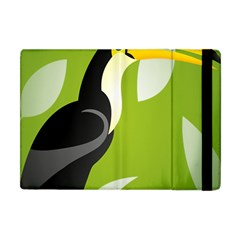 Cute Toucan Bird Cartoon Fly Yellow Green Black Animals Apple Ipad Mini Flip Case by Mariart