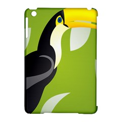 Cute Toucan Bird Cartoon Fly Yellow Green Black Animals Apple Ipad Mini Hardshell Case (compatible With Smart Cover) by Mariart