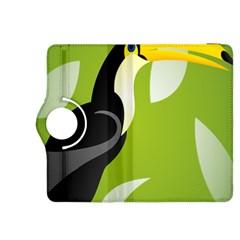 Cute Toucan Bird Cartoon Fly Yellow Green Black Animals Kindle Fire Hdx 8 9  Flip 360 Case by Mariart
