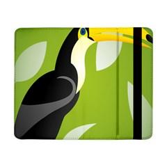 Cute Toucan Bird Cartoon Fly Yellow Green Black Animals Samsung Galaxy Tab Pro 8 4  Flip Case by Mariart
