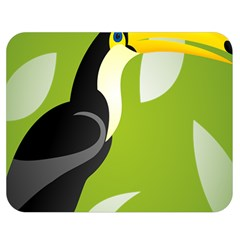 Cute Toucan Bird Cartoon Fly Yellow Green Black Animals Double Sided Flano Blanket (medium)  by Mariart
