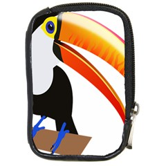 Cute Toucan Bird Cartoon Fly Compact Camera Cases by Mariart