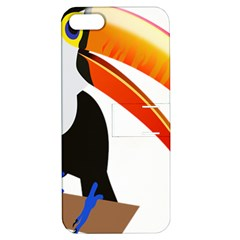 Cute Toucan Bird Cartoon Fly Apple Iphone 5 Hardshell Case With Stand by Mariart
