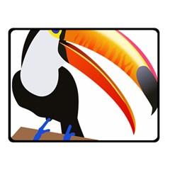 Cute Toucan Bird Cartoon Fly Double Sided Fleece Blanket (small)  by Mariart