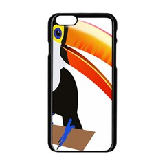 Cute Toucan Bird Cartoon Fly Apple Iphone 6/6s Black Enamel Case by Mariart