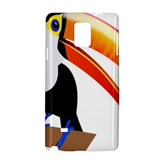 Cute Toucan Bird Cartoon Fly Samsung Galaxy Note 4 Hardshell Case by Mariart