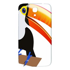 Cute Toucan Bird Cartoon Fly Samsung Galaxy Mega I9200 Hardshell Back Case by Mariart